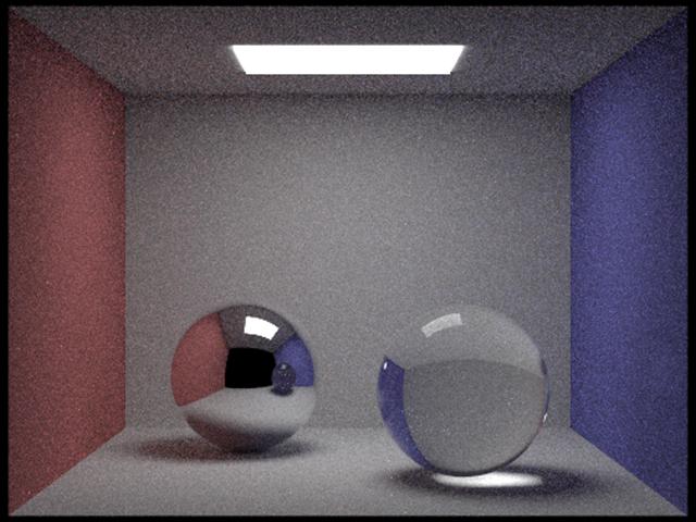 Cornell box spheres 256