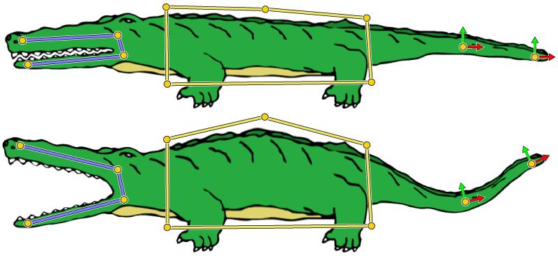 Deformation of a 2D cartoon