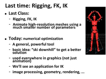Lecture Summary : Computer Graphics : 15-462/662 Fall 2016