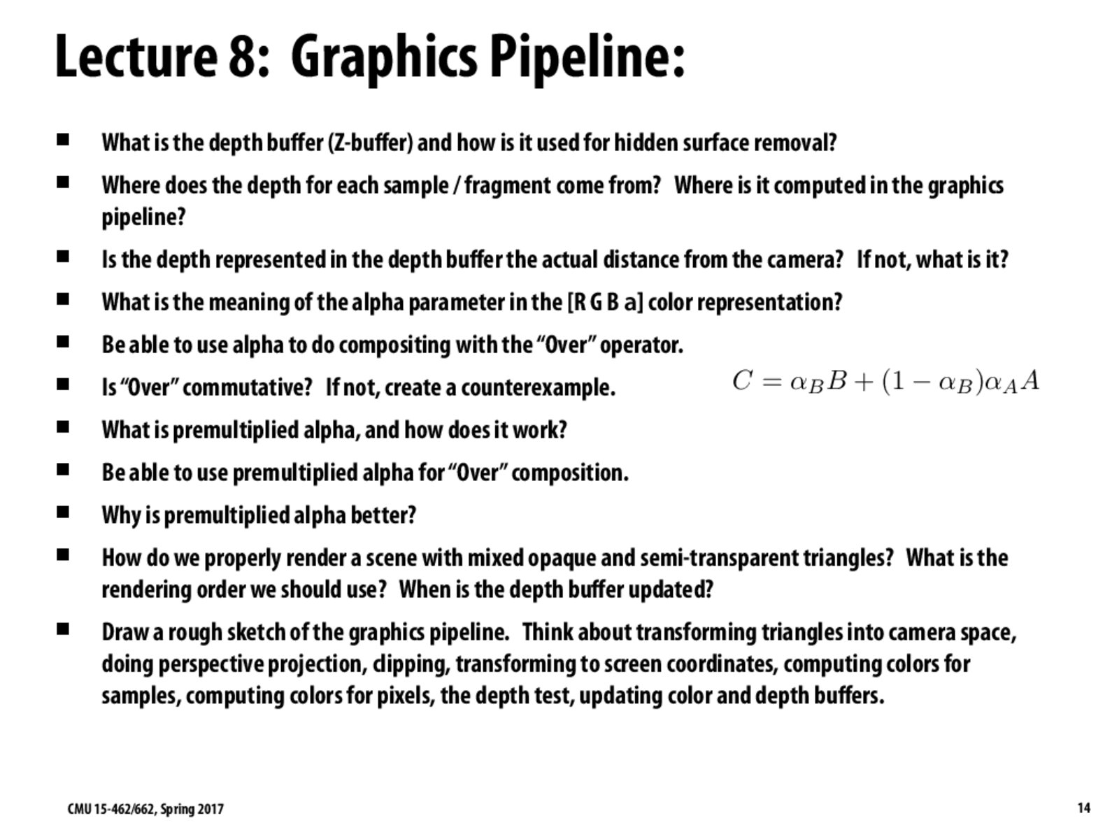 Slide View : Computer Graphics : Spring 2019